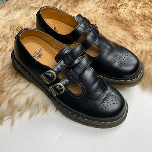 Doc Martens May Jane black Leather Perforated 10